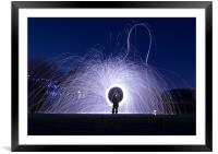 cool ring trails, Framed Mounted Print