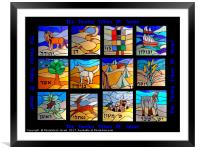 The Twelve Tribes of Israel, Framed Mounted Print