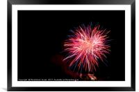 4th of July fireworks., Framed Mounted Print