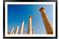 Israel, Bet Shean columns, Framed Mounted Print