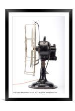vintage fan, Framed Mounted Print