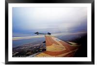 IAF F-16 Fighter jet, Framed Mounted Print