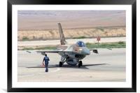 IAF F16I Fighter jet, Framed Mounted Print
