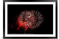 Fireworks display, Framed Mounted Print