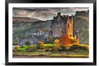 Castle Eilean Donan, Framed Mounted Print