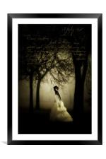 In search of my beloved, Framed Mounted Print