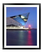 The Deep at Night, Framed Mounted Print