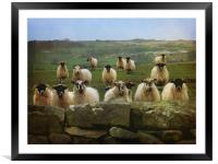 They Must Think They're Getting Fed, Framed Mounted Print