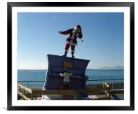 Santa in the South of France, Framed Mounted Print