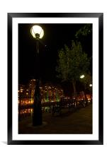Salford Quays By Night, Framed Mounted Print