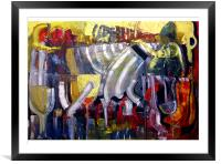 Bar Scene, Framed Mounted Print