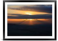 Rays of Sunrise, Framed Mounted Print