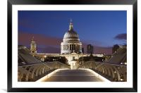 Bridge to St. Pauls, Framed Mounted Print