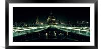 St. Paul's Cathedral, Framed Mounted Print