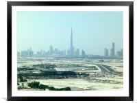 The Burj Dubai, Framed Mounted Print