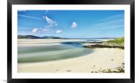 Luskentyre Beach Isle of Harris Scotland, Framed Mounted Print
