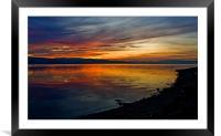 Seaside Sunset, Framed Mounted Print
