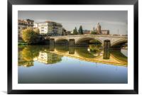 River Arno, Framed Mounted Print