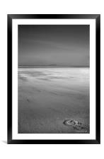 Luck In The Sand, Framed Mounted Print