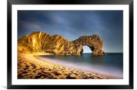 Durdle Door in colour, Framed Mounted Print