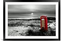 The Red Phone Box, Framed Mounted Print