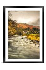 River Eamont, Howtown, Cumbria., Framed Mounted Print