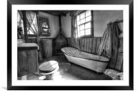 Ye Old Bath Time, Framed Mounted Print