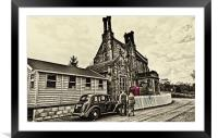 Catching The Train, Framed Mounted Print