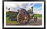 Traction Engine, Framed Mounted Print