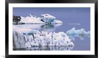 Glacial Textures, Framed Mounted Print