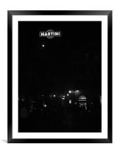 Martini Sign in Florence, Framed Mounted Print