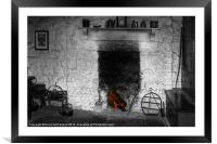Home at the hearth, Framed Mounted Print