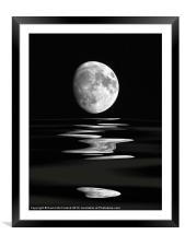 Lunar water, Framed Mounted Print