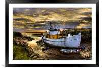 south ferriby boat, Framed Mounted Print