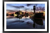 Hull Marina at Dusk, Framed Mounted Print