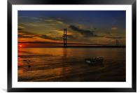 Humber Bridge Sunset 2012, Framed Mounted Print