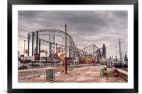 Blackpool Pleasure Beach, Framed Mounted Print
