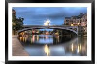 Lendal Bridge York 2013, Framed Mounted Print