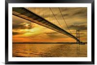 Humber Bridge Dawn 2013, Framed Mounted Print