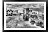 River Hull Dusk  2013, Framed Mounted Print