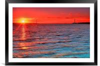 Humber Sunset, Framed Mounted Print