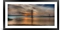 The Humber Bridge at Dusk  2015, Framed Mounted Print