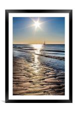 Spurn Point Sunrise, Framed Mounted Print