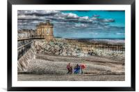Withernsea Beach, Framed Mounted Print
