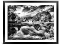 bishops storm clouds, Framed Mounted Print