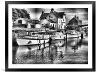crown and anchor, Framed Mounted Print