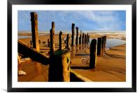 east coast beach, Framed Mounted Print