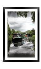 pocklington canal boat, Framed Mounted Print