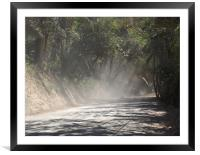Dust Along the Road, Framed Mounted Print