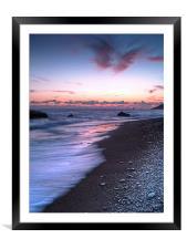 Pebbles On Aphrodites Beach, Framed Mounted Print